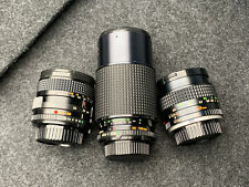 Minolta Rokkor 3 Lens Set 50mm F1.4 and Two Zooms