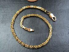 VINTAGE 9ct GOLD BYZANTINE LINK BRACELET C.2000