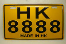 China HongKong Moto License Plate from 1997#8888-HK