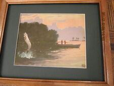 Lynn Bogue Hunt tarpon fishing picture framed