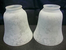 FROSTED SPECKLED DESIGN GLASS GLOBE SHADES LAMP REPLACEMENT CEILING FAN LIGHTING