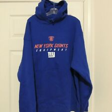 NFL Reebok New York Giants Hooded Pullover Sweatshirt New LARGE