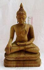MASTERPIECE! Golden Teak Wood Calling Earth To Truth Buddha  Samsak Meewan