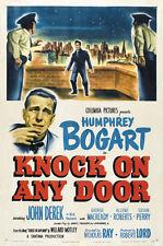 Knock on any door Humphrey Bogart movie poster print 2