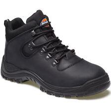 MENS DICKIES FURY STEEL TOE CAP SAFETY BOOTS SIZE UK 5 EU 38 FA23380A BLACK