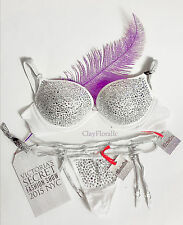 New Victoria's Secret Fashion Show NYC ICE ANGEL Swarovski push up bra set 34B L