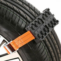2Pcs Car Vehicle Snow Chain Saloon Tire Emergency Anti-Skid Strap Safe Universal