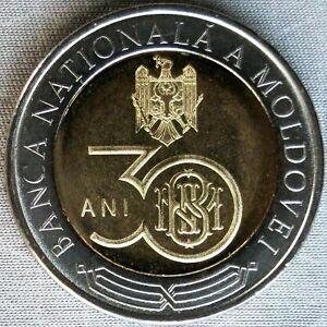 NEW*MOLDAWIEN / MOLDOVA_10 Lei 2021_30 Years of National Bank_Bi-Metall_unc_lose