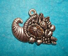 Basket Charm Horn O Plenty Cornucopia Charm Scarecrow Fall Harvest Blessings