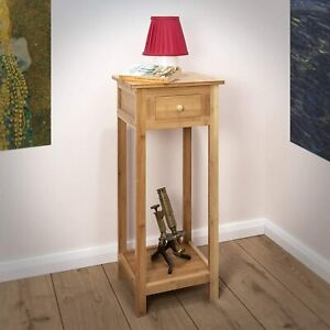 Slim Side Table Shelf Wooden Sofa Hallway Phone Furniture Lamp Small Bed Stand