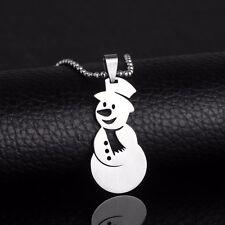 Christmas Gift Snowman Snowmen Charm Tree Santa Claus Ornament Pendant Necklace