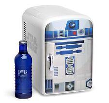 NEW Star Wars R2-D2 Mini Fridge 6-Beer/Soda Pop Cooler Home/Office DROID r2d2
