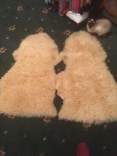 2 Natural Sheepskin Rugs