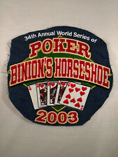 One of a kind embroidery sample for 2003 World Series of Poker at Binion's