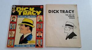 DICK TRACY The Art Of Chester Gould 1978 + LARGE SIZE Limited Ed. Comic Book '75