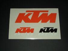 KTM Aufkleber Sticker Motorrad Dekor Cross Race Decal Bapperl Kleber Logo  23