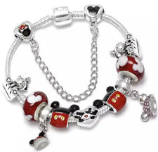 Silver Plated Red Cartoon Charms With Bracelet