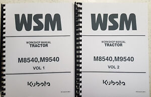 KUBOTA M8540 M9540 TRACTOR WORKSHOP MANUAL REPRINTED 2009 EDITION COMB BOUND