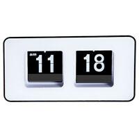 1X(Digital Auto Flip Desk Clock Classic Stylish Retro Desktop Flip Page Ala7T7)