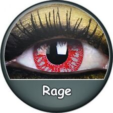 RAGE one day lentille de couleur rouge lens contact black halloween red vampire