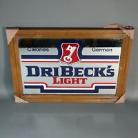 DRIBECK'S German Light Beer Mirror Vintage Bar Man Cave Sign - New Old Stock