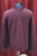 NWT Mens Large Calvin Klein Dressy Refined Black Cherry New L 40TK267 1/4 ZIp