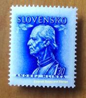 EBS Slovakia Slovensko 1943 Fr. Andrej Hlinka - with wmk. - Michel 111Y MNH**