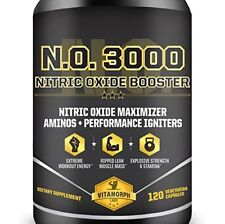 Nitric Oxide Supplement Energy Building Muscle 3 in 1 Pre Workout Builder Pills