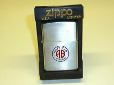 "VINTAGE ZIPPO LIGHTER - CHROME BRUSHED W. MOTIVE ""AMERICAN BOSCH"" - 1978 -RARE"