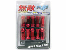 MUTEKI SR48 20PCS EXTENDED WHEELS TUNER LUG NUTS (OPEN END/12X1.25/RED)