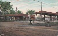 Postcard Railroad Depot CRR of NJ Stations Cranford NJ