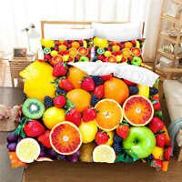 Lemon Black Mulberry 3D Print Duvet Quilt Doona Covers Pillow Case Bedding Sets