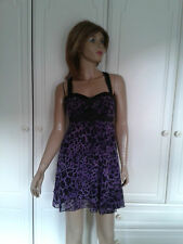 JANE NORMAN DESIGNER PURPLE AND BLACK ANIMAL PRINT DRESS SIZE 6