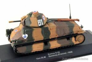 1/43 Somua S-35 DLM Quesnoy France 1940 tank IXO ALTAYA DIECAST