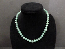 NECKLACE VINTAGE (EMERALD JADE ) 10 mm / 50 BEADS H Q CHINESE NECKLACE RARE 6600