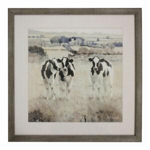 Grazing Cows Framed Print Wall Art 35cm Square