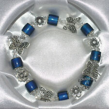 Gift Boxed Colour Changing Mysterious Mood Bead Butterflies Flower Bracelet