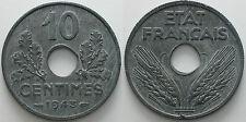 1943  France  10 centimes UNC