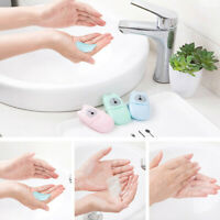 50pcs Disposable Portable Hand Washing Soap Scented Slice Sheets Mini Soap Paper