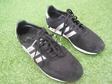 ADIDAS  L.A.TRAINERS UK SIZE 9 -BLACK / WHITE / GREY - IN AN OK CONDITION