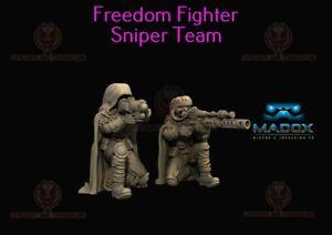 Star Wars Legion Custom 3D Printed Twi'lek Resistance Fighter Sniper Team