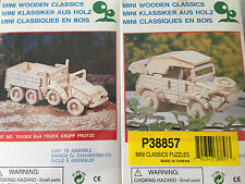 "Wooden Classic Volkswagen Jeep & 6/4 Truck Mini Wood Puzzle ""A Must Have"""