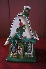 """2009 Blue Sky Clayworks Heather Goldminc Cottage Tea Light Holder: """"Faith"""""""