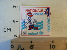 STICKER,DECAL KNZB NATIONALE ZWEMVIERDAAGSE UNICEF A