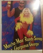 WCW Diva Gorgeous George 8x10 photo Autographed WWE Macho Man Slim Jim Signed