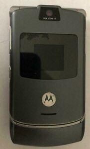 READ 1ST Motorola RAZR V3 Gray Consumer Cellular T-Mobile Phone Very Good Used