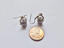 Nantucket Lightship Basket charm earrings Silver light ship purse USA pewter