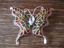 prachtvolle Schmetterling Brosche 925er Silber Emaille Butterfly enamel Brooch