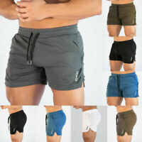 Mens Summer Swim Jogging Running Gym Sports Breathable Fitness Exercise Shorts ~
