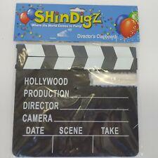 Movie Clapper Clapboard Prop Chalk Board Film TV Directors Cut/Action Slate